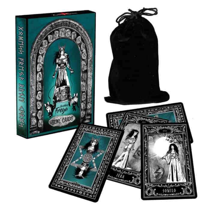 Cartes de la déesse Freya Rune Cartes d'Evina NOUVEAU