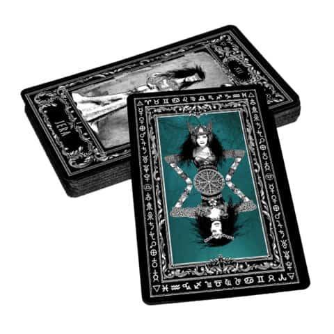 Déesse-Freya-Rune-Cards-25-Runes-Cards + 25-Rune-Stones-Evina-Cards-12