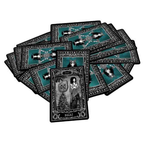 Déesse-Freya-Rune-Cards-25-Runes-Cards + 25-Rune-Stones-Evina-Cards-13