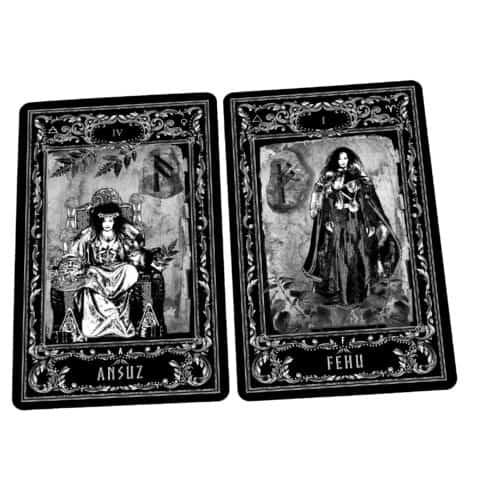 Déesse-Freya-Rune-Cards-25-Runes-Cards + 25-Rune-Stones-Evina-Cards-9