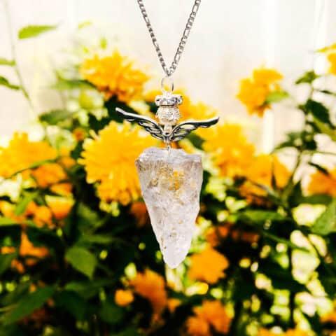 Pendulum Crystal Necklace, Angel Crystal, Quartz Crystals Necklace (2)