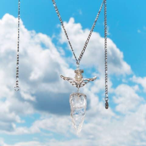 Pendulum Crystal Necklace, Angel Crystal, Quartz Crystals Necklace (5)