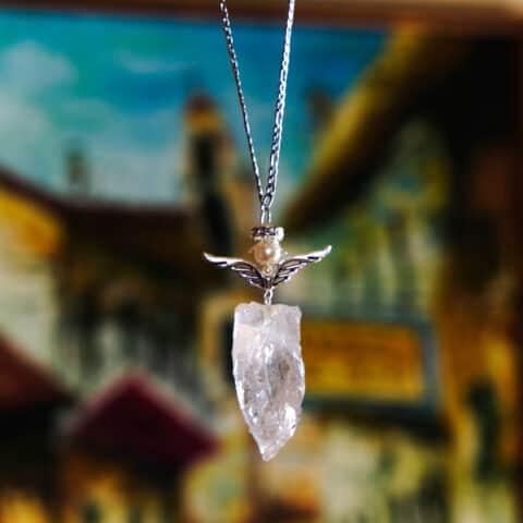 Pendulum Crystal Necklace, Angel Crystal, Quartz Crystals Necklace (7)